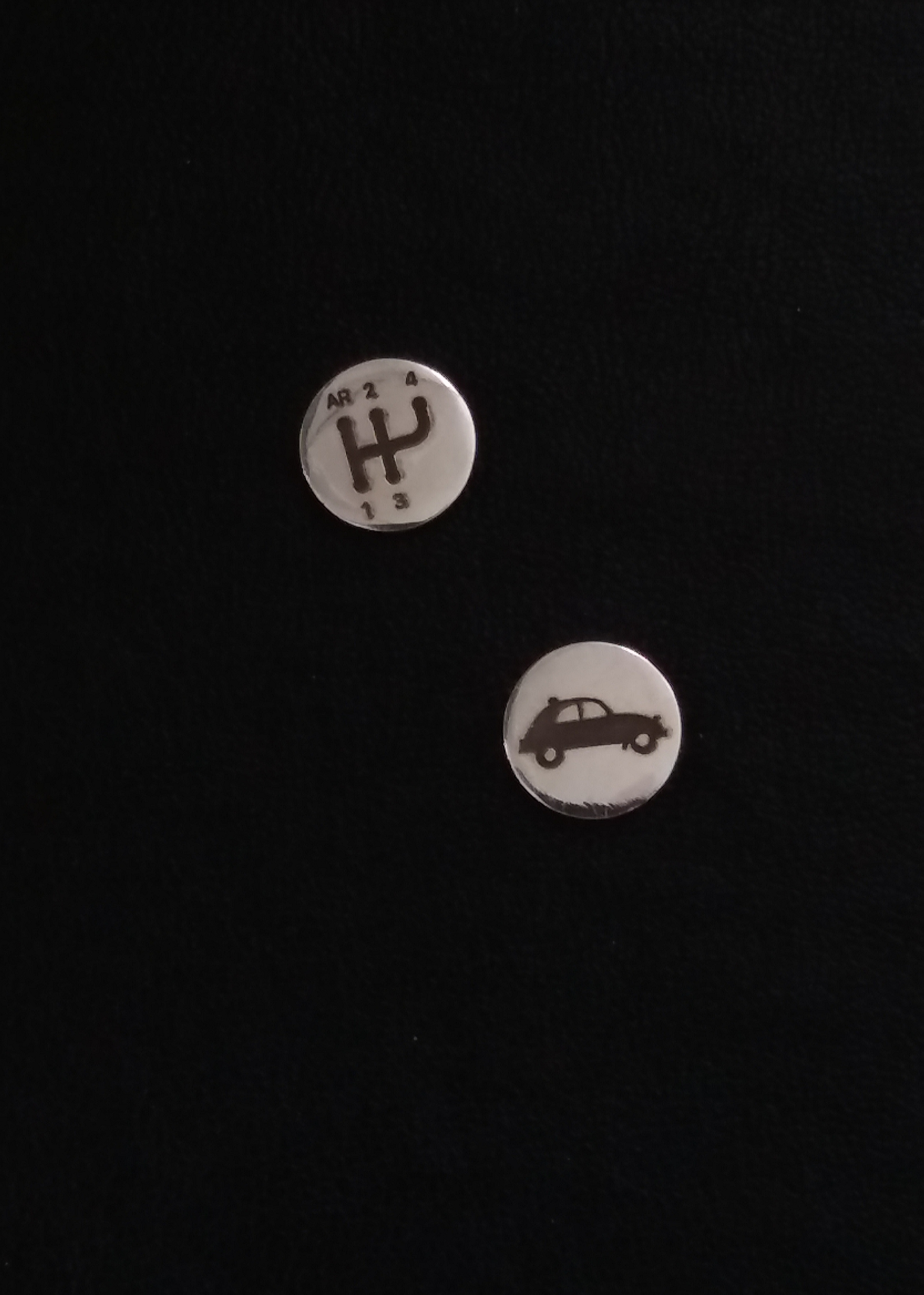 Citroen 2cv shift pattern carjewellery silver  car jewel earrings pendant