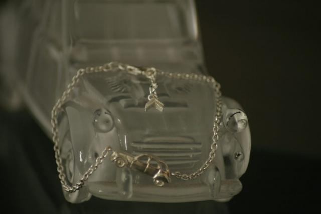 2cv silver bracelet carjewellery gearhead vintage car