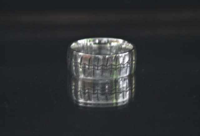 Citroen Tire ring 8 mm wide silver