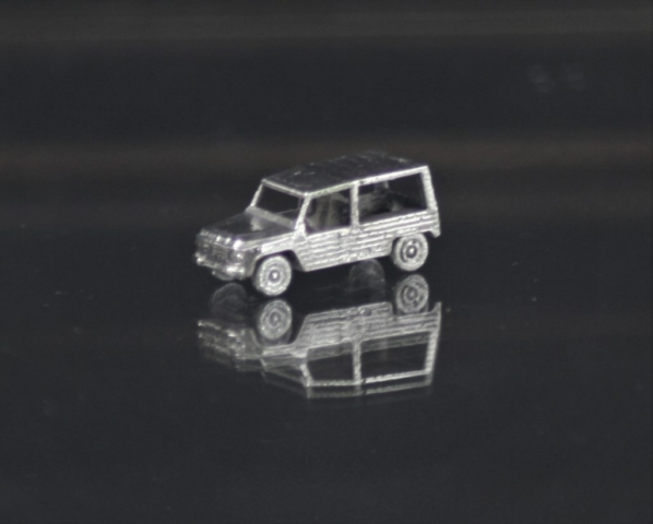 Citroen mehari silver miniature car jewel 1:160