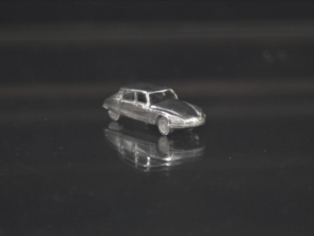 Citroen DS silver miniature detailed car jewel
